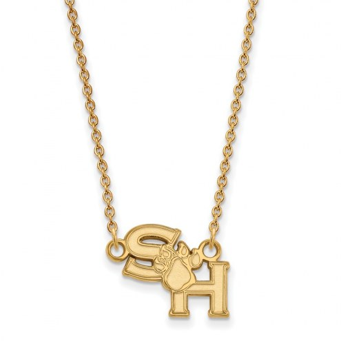 Sam Houston State Bearkats Sterling Silver Gold Plated Small Pendant Necklace