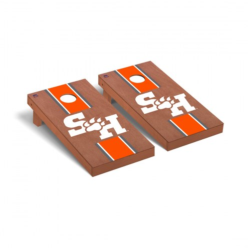 Sam Houston State Bearkats Rosewood Stained Cornhole Game Set