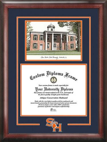 Sam Houston State Bearkats Spirit Diploma Frame with Campus Image