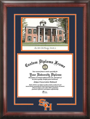 Sam Houston State Bearkats Spirit Diploma Frame with Campus Image