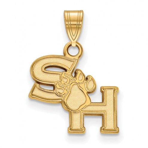 Sam Houston State Bearkats Sterling Silver Gold Plated Small Pendant