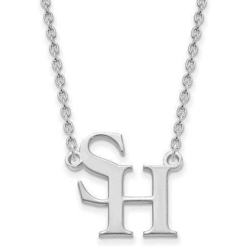 Sam Houston State Bearkats Sterling Silver Large Pendant Necklace
