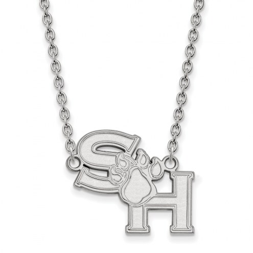 Sam Houston State Bearkats Sterling Silver Large Pendant Necklace