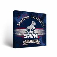 Samford Bulldogs Banner Canvas Wall Art