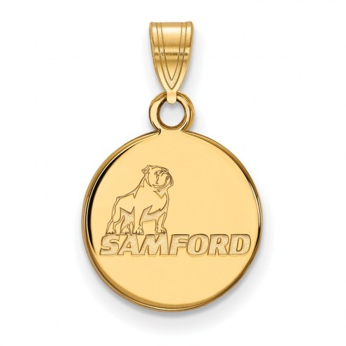 Samford Bulldogs NCAA Sterling Silver Gold Plated Small Pendant