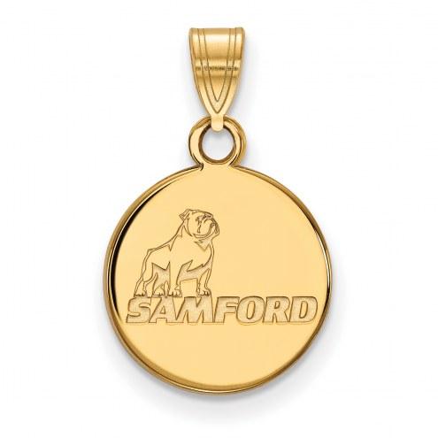 Samford Bulldogs NCAA Sterling Silver Gold Plated Small Pendant
