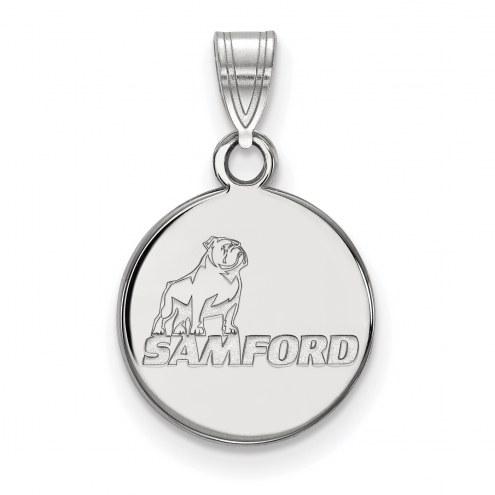Samford Bulldogs Sterling Silver Small Pendant