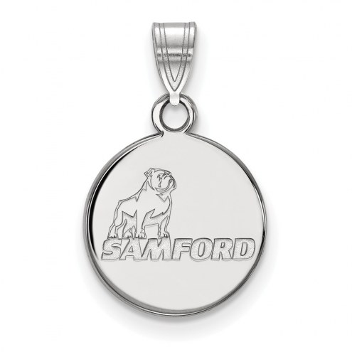 Samford Bulldogs Sterling Silver Small Pendant