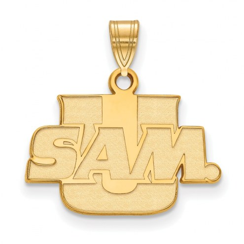 Samford Bulldogs Sterling Silver Gold Plated Small Pendant