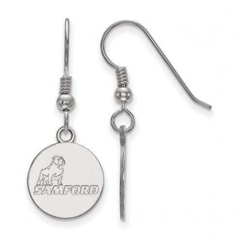 Samford Bulldogs Sterling Silver Small Dangle Earrings