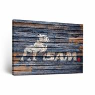 Samford Bulldogs Weathered Canvas Wall Art