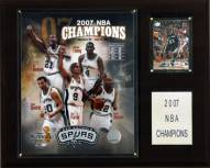 "San Antonio Spurs 12"" x 15"" 2007 NBA Champions Plaque"