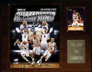 "San Antonio Spurs 12"" x 15"" 2013-2014 NBA Champions Plaque"