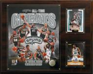 "San Antonio Spurs 12"" x 15"" All-Time Great Photo Plaque"