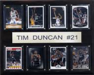"""San Antonio Spurs 12"""" x 15"""" Tim Duncan 8 Card Plaque"""