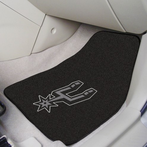 San Antonio Spurs 2-Piece Carpet Car Mats