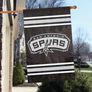 San Antonio Spurs Applique 2-Sided Banner Flag