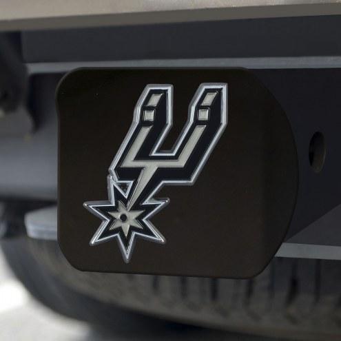 San Antonio Spurs Black Color Hitch Cover