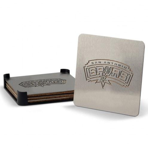 San Antonio Spurs Boasters Stainless Steel Coasters - Set of 4