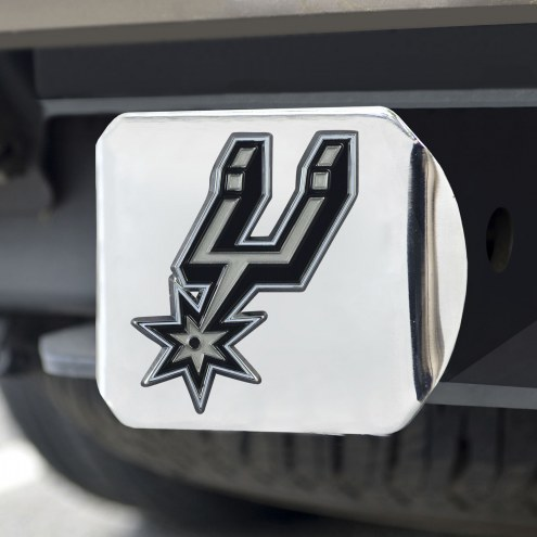 San Antonio Spurs Chrome Color Hitch Cover