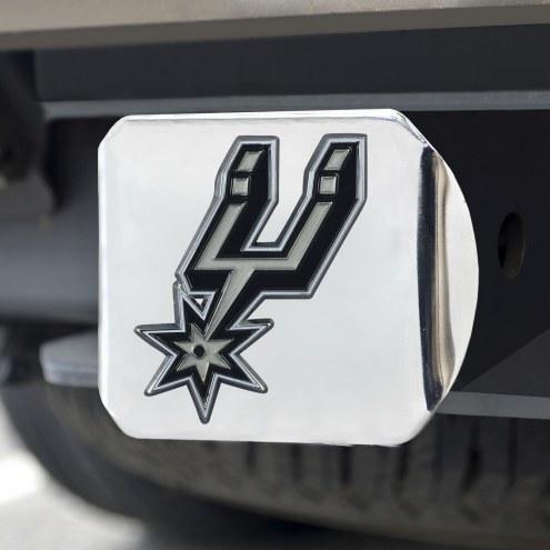 San Antonio Spurs Chrome Color Hitch Cover