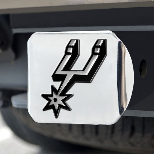 San Antonio Spurs Chrome Metal Hitch Cover