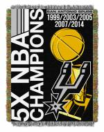 San Antonio Spurs Commemorative Champs Throw Blanket