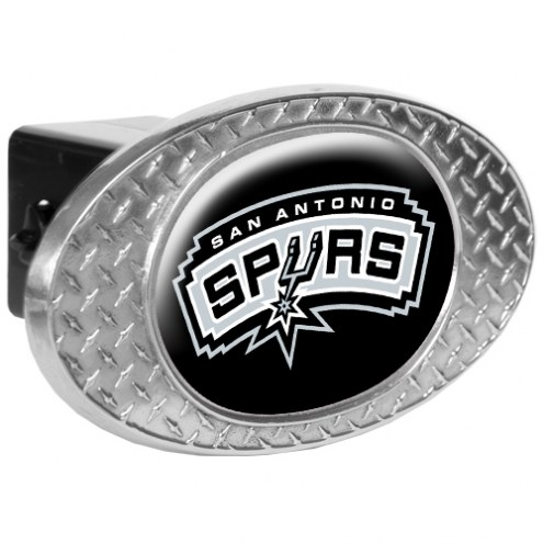 San Antonio Spurs Metal Diamond Plate Trailer Hitch Cover