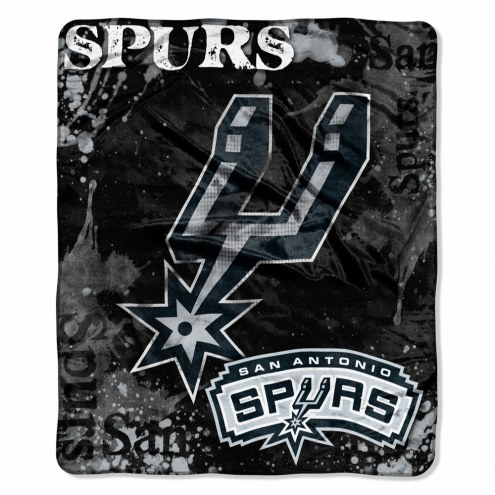 San Antonio Spurs Drop Down Raschel Throw Blanket