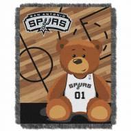 San Antonio Spurs Half Court Baby Blanket