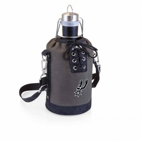 San Antonio Spurs Insulated Growler Tote with 64 oz. Stainless Steel Growler