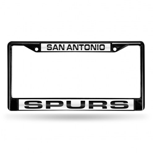 San Antonio Spurs Laser Black License Plate Frame