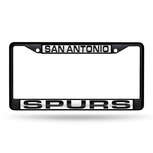 San Antonio Spurs Laser Colored Chrome License Plate Frame