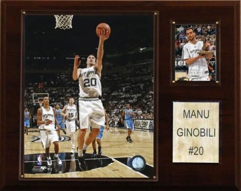 "San Antonio Spurs Manu Ginobili 12"" x 15"" Player Plaque"