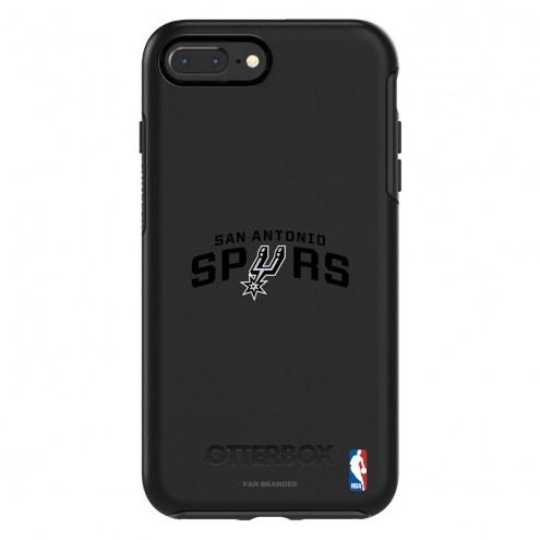 San Antonio Spurs OtterBox iPhone 8 Plus/7 Plus Symmetry Black Case