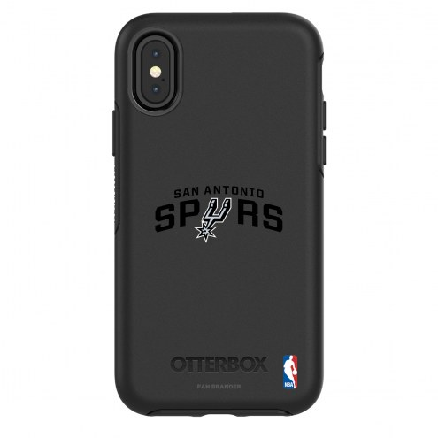 San Antonio Spurs OtterBox iPhone X/Xs Symmetry Black Case