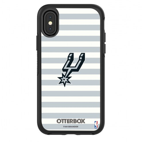 San Antonio Spurs OtterBox iPhone X/Xs Symmetry Stripes Case