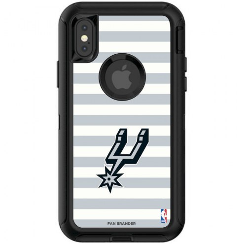 San Antonio Spurs OtterBox iPhone XR Defender Stripes Case