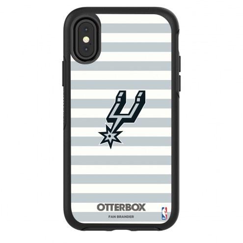 San Antonio Spurs OtterBox iPhone XR Symmetry Stripes Case