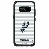 San Antonio Spurs OtterBox Samsung Galaxy S8 Symmetry Stripes Case
