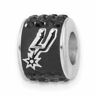 San Antonio Spurs Sterling Silver Charm Bead