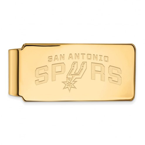 San Antonio Spurs Sterling Silver Gold Plated Money Clip