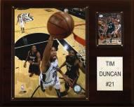 """San Antonio Spurs Tim Duncan 12"""" x 15"""" Player Plaque"""