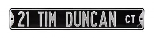 San Antonio Spurs Tim Duncan Street Sign