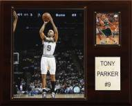 """San Antonio Spurs Tony Parker 12"""" x 15"""" Player Plaque"""