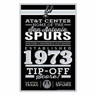 San Antonio Spurs Established Wood Sign