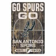 San Antonio Spurs Slogan Wood Sign