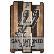 San Antonio Spurs Wood Fence Sign