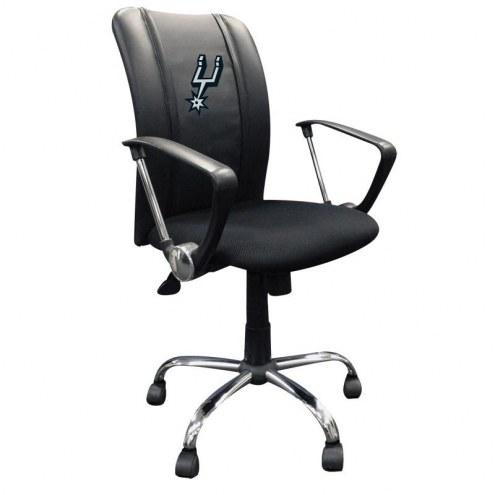 San Antonio Spurs XZipit Curve Desk Chair with Primary Logo
