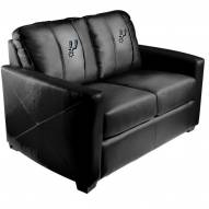 San Antonio Spurs XZipit Silver Loveseat with Primary Logo